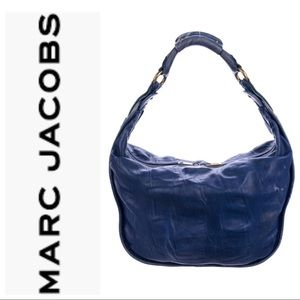 Marc Jacobs Blue Leather Hobo bag with pink suede